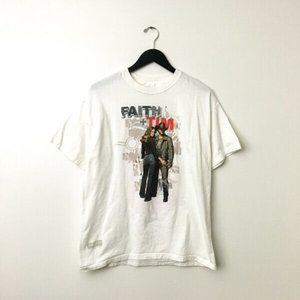 Vintage Faith Hill Tim Mcgraw Graphic Shirt Tour L